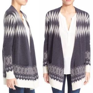 Joie | Lacene drape front wool cardigan